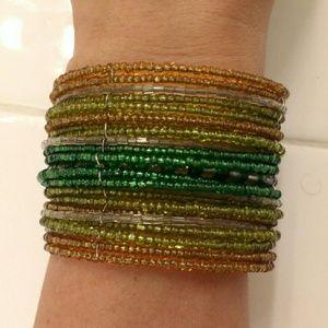 Chico's Beaded cuff bracelet